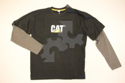 Caterpillar shirt C8113 lange mouw antraciet/zwart